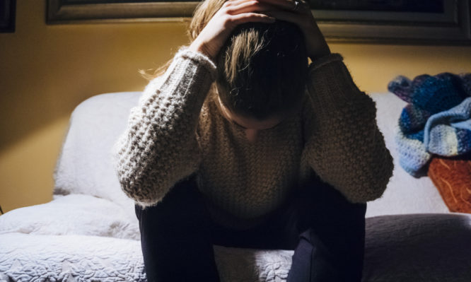 Woman suffering from depression